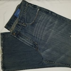 GAP 1969 Jeans 36 32 Loose Straight Destructed